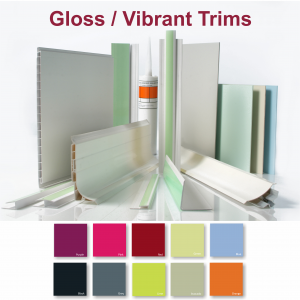 PVC Wall Cladding Trims and Adhesives - gloss/vibrant