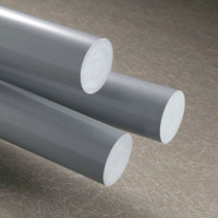 PVC Rod - Grey