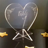 Table Numbers - hearts