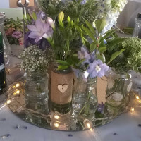 Mirror Table Centrepieces