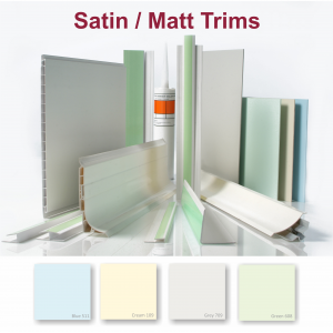 PVC Wall Cladding Trims and Adhesives - satin/matt